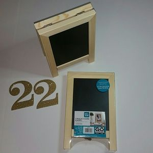 Chalk / Cork Set of 2 Wooden Double-Sided Easels